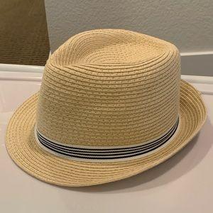 Kids straw fedora hat